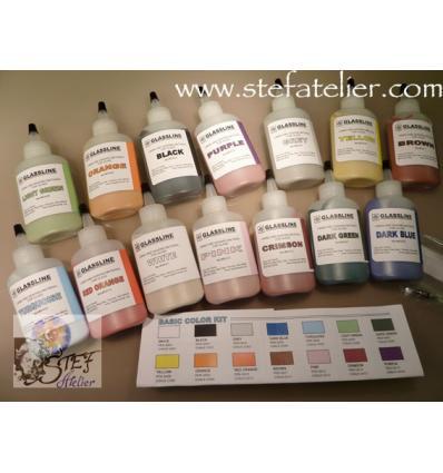 crayons pour peinture fusing BASE KIT 14 couleurs