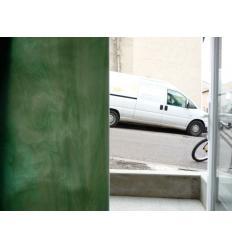 """verre """"S"""" vert menthe et opaline 30x30cm"""