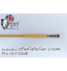 Brosse 7122 N°10 en soies longueur des poils  18mm sur largeur sortie 11mm environ