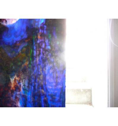 """Verre """"UR"""" violet bleu foncé vert 30x37cm"""