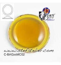 cabochon rond de 25mm couleur ambre