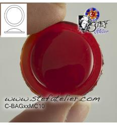 cabochon rond de 20mm couleur rouge