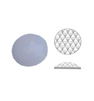 cabochon rond à facettes de 20mm couleur opaline