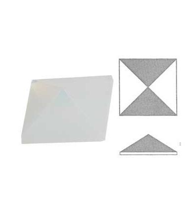 cabochon Pyramide de 30x30mm Opaline