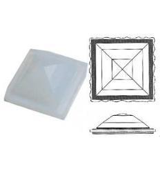 cabochon Pyramide Rombo 30x30mm Opaline