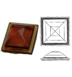cabochon Pyramide Rombo 30x30mm Ambre