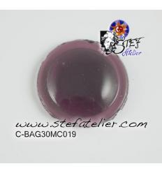cabochon rond de 30mm couleur Violet