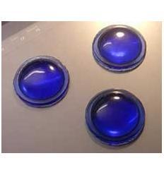 cabochon rond de 30mm couleur bleue
