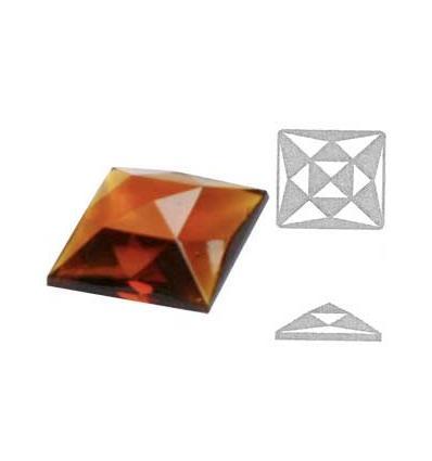 cabochon carré multifacettes ambre 1,8x1,8cm