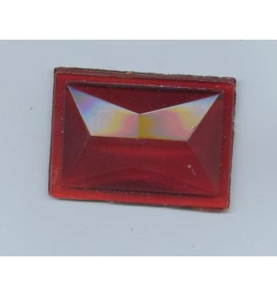 Cabochon rectangle 50x25mm Rouge