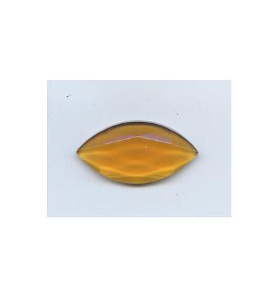 cabochon amande facette 30x15mm ambre