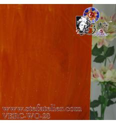 """verre """"W"""" orange célénium et opaline légére 26x27cm"""