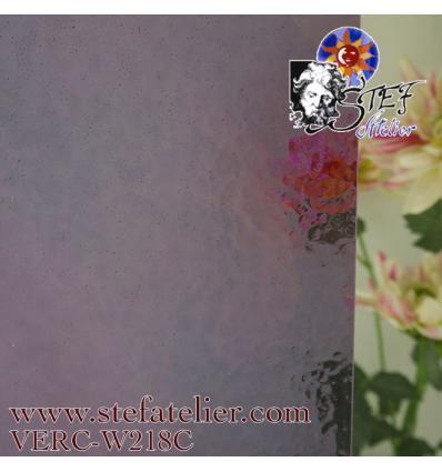 """Verre """"W"""" cathédrale corella violet clair 26x27cm"""