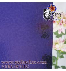 "Verre ""W"" cathédrale corella violet moyen 27x27cm"