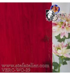 """Verre """"W"""" rouge et opaline légère  26x27cm"""