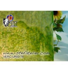 "Verre ""UR"" Vert printemps 30x30cm"