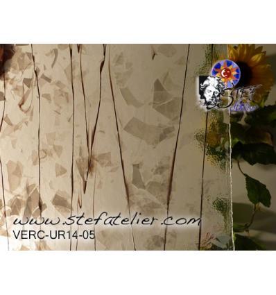 """Verre """"UR"""" confettis blancs lignes noires"""
