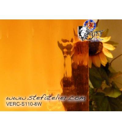 "Verre ""S"" jaune ambre moyen Watterglass 30x27cm"