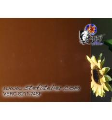 """Verre """"S"""" brun chocolat au lait opaque compatible fusing S96  29x30cm"""
