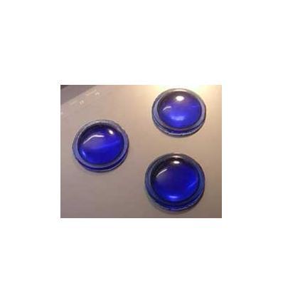 mini cabochon rond de 12mm couleur bleues
