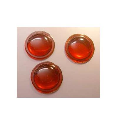 mini cabochon rond de 12mm couleur rouge