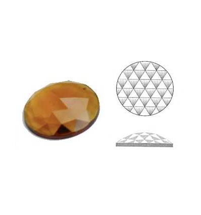 cabochon rond à facettes de 11mm couleur ambre