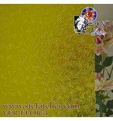 """verre """"W"""" florentine jaune vif 35x27cm"""