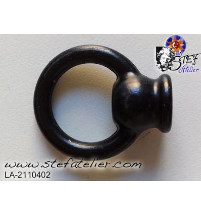 bouton final anneau noir diam 30mm