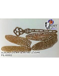 filigran. Libellulles 4 ailes (env 8,5*2cm) et un corps