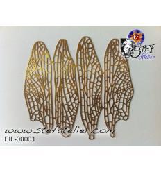 filigran. Libellulles 4 ailes 13*3cm
