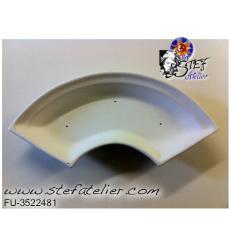 Moule céramique  fusing  assiette arc de cercle 37x19cm