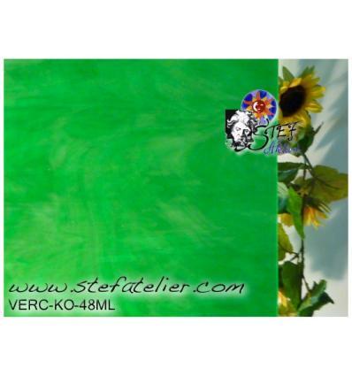 """Verre """"KO"""" vert opaline 27x27cm"""