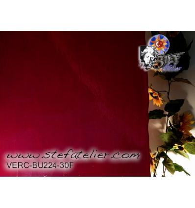 """Verre """"BU"""" rouge foncé opaque fusing bullseyes 25x29cm"""