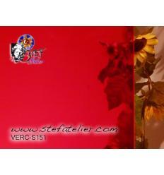 """Verre """"S"""" rouge clair 30x30cm"""