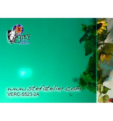 """verre """"S"""" Artique vert océan 30x30cm"""