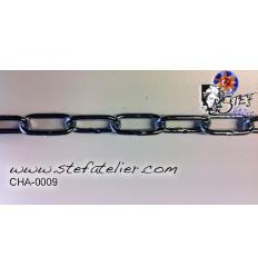 Chaine maillon galva 1mètre 2mm épaisseur, maillon 12x8mm 30kg de charge