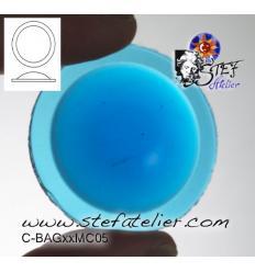 cabochon rond de 30mm couleur turquoise