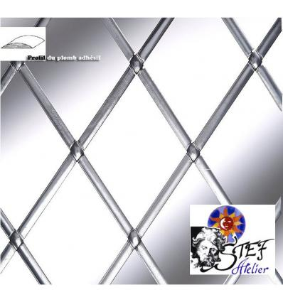 3mm x2 x 25m plomb adhésif décoratif autocollant