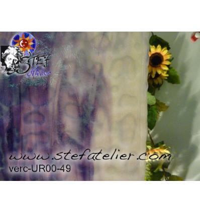 "Verre ""UR"" violet opaline 38x30cm"