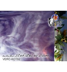 "Verre ""KO"" Violet et opaline 26x26cm"