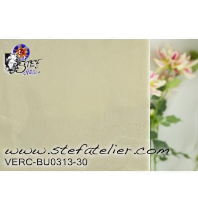 "Verre ""BU"" blanc opaque 24x27cm"