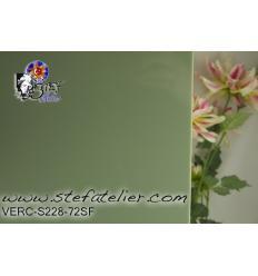"""verre """"S"""" vert ombrine opaque compatible fusing S96 30x30cm"""