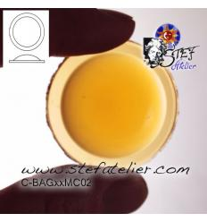 cabochon rond de 40mm couleur ambre