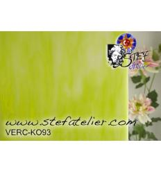"Verre ""KO"" vert printemps et opaline 26x26cm"