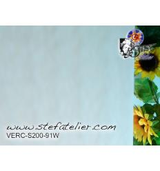 "Verre ""S"" Watterglass blanc opaline 27x30cm"