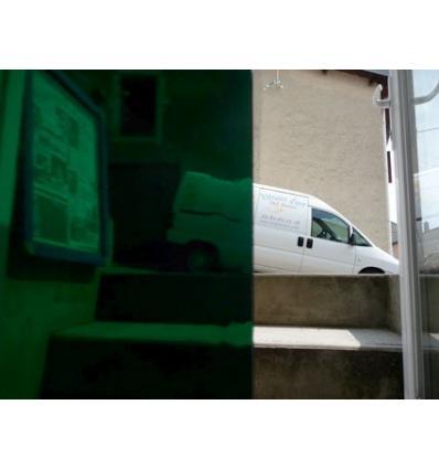 """Verre """"S"""" vert très foncé compatible fusing S96 30x30cm"""