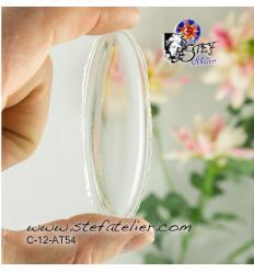 Cabochon ovale de 78x25mm transparent