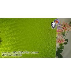"""Verre """"W"""" verre florentine vert prairie 35x27cm"""