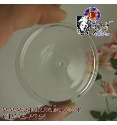 cive soufflée transparente environ 7 cm de diamètre