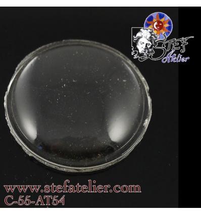 Ancien* Cabochon Rond Hublot transparent diamètre 35 mm